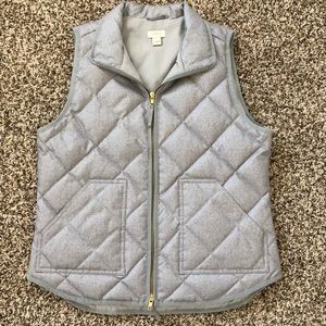 NWOT J. Crew Quilted Down Puffer Vest Size M